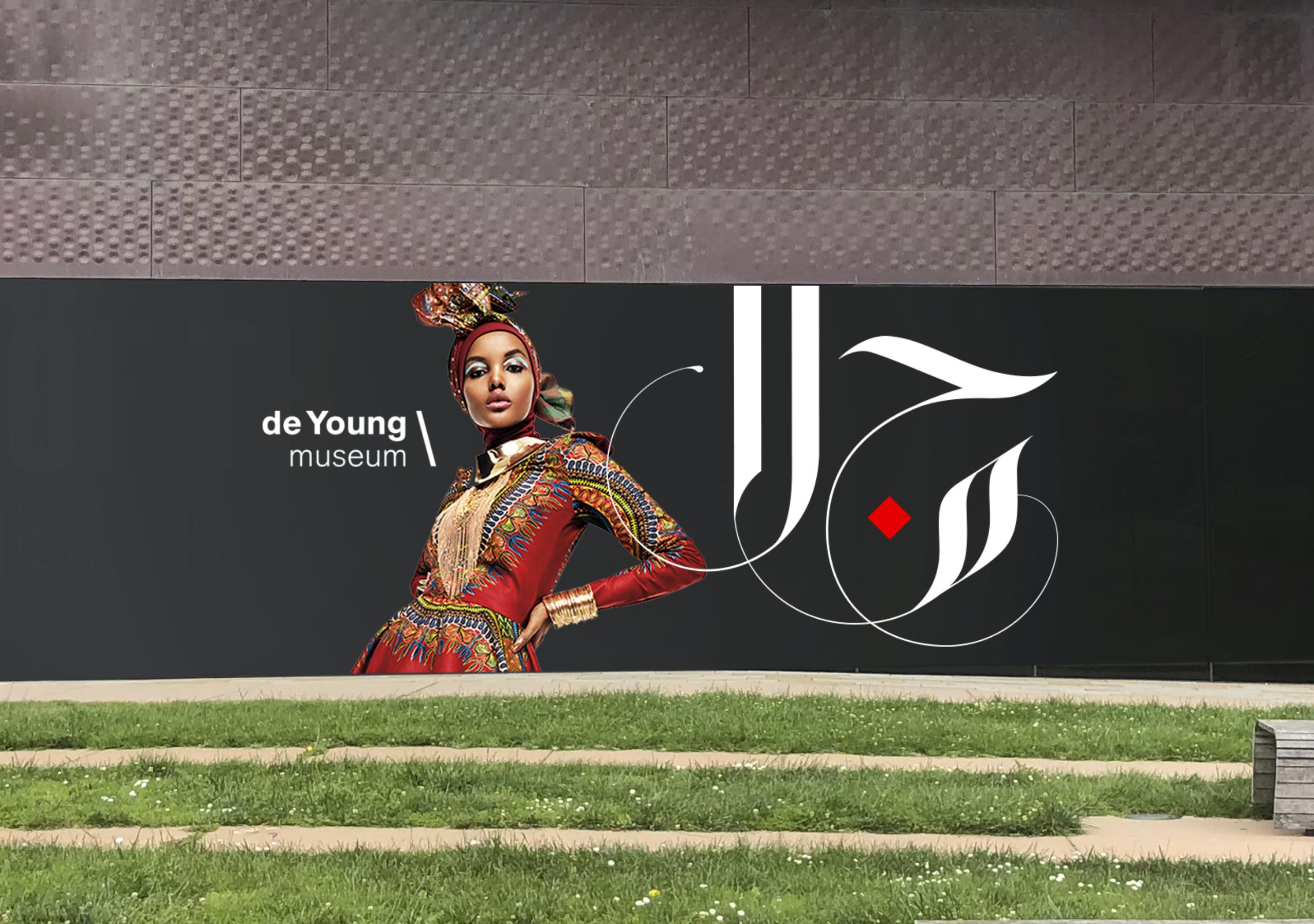 Calligraphy + de Young + Halima Aden